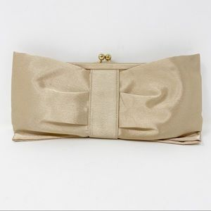 KATE LANDRY Gold Champagne Clutch Bag